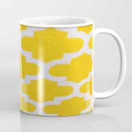 Yellow Cross Pattern Coffee Mug