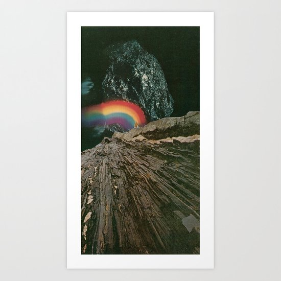 rainbow at the center of the earth Art Print