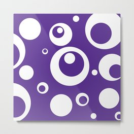 Circles Dots Bubbles :: Grape Juice Metal Print