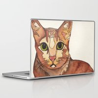 meow Laptop & iPad Skins featuring Meow by Noreen Loke