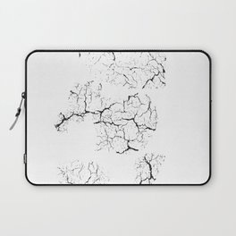 gray wall crack split marks - best art for your house or home Laptop Sleeve