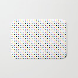 Light CMYK Polka Dots Bath Mat