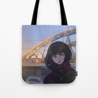 moscow Tote Bags featuring Moscow by Ilya Kuvshinov