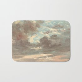 Cloud Study by John Constable 1821 Bath Mat