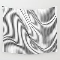 minimalist Wall Tapestries featuring Minimal Curves by Leandro Pita