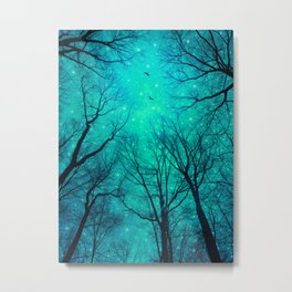 A Certain Darkness Is Needed II (Night Trees Silhouette) Metal Print