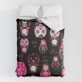 Russian/Mexican nesting dolls Comforters
