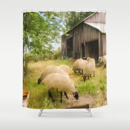 Little Sheep Shower Curtain