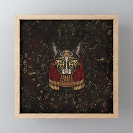 Bastet Egyptian Goddess Framed Mini Art Print