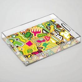 color doodle Acrylic Tray