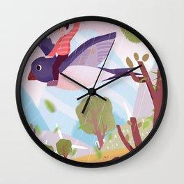 Fly Bird And Children Wall Clock