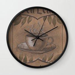 Tea Leaf Reading Wall Clock