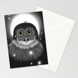 Moon lit Owl  Stationery Cards