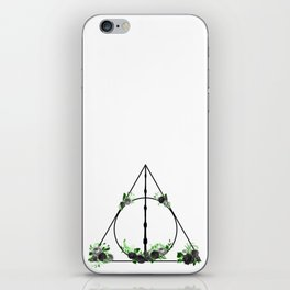 Deathly Hallows in Green and Gray iPhone Skin
