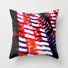 Abstract Red White and Blue Lights Throw Pillow