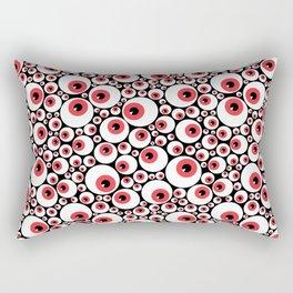 Red Eyeballs Rectangular Pillow