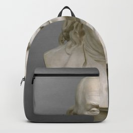 Historical Bust of Ben Franklin Photograph (1778) Backpack