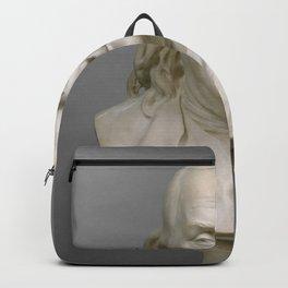Historical Bust of Ben Franklin Photograph (1778) Backpack