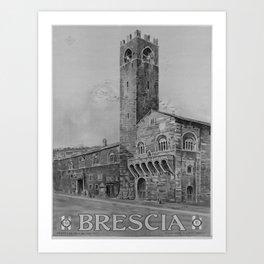 retro retro ENIT Brescia poster Art Print