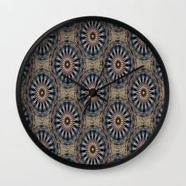 Star Daises Wall Clock