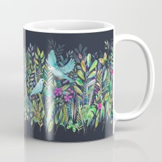 Little Garden Birds in Watercolor Coffee Mug