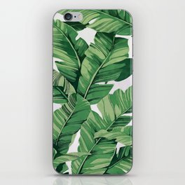 Tropical banana leaves VI iPhone Skin