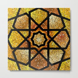 Gold shiny glitter arabesque  Metal Print