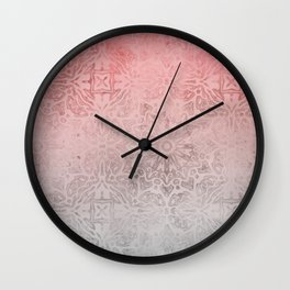 Oriental ornament pattern Rose Quartz Wall Clock