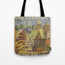 Vintage poster - San Francisco Tote Bag