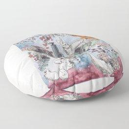 Pink Saturdays Floor Pillow