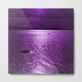 Ultraviolet Lakescene Scandinavian View #decor #society6 #homedecor Metal Print
