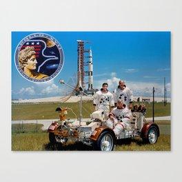 Apollo 17 - Prime Crew Portrait Canvas Print