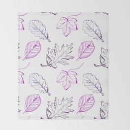 Leaves (purple) Throw Blanket