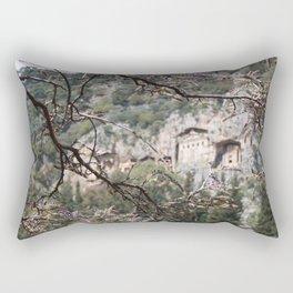 Wisteria Buds Surrounding the Lycian Tombs Dalyan Rectangular Pillow