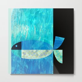pool fish two step Metal Print