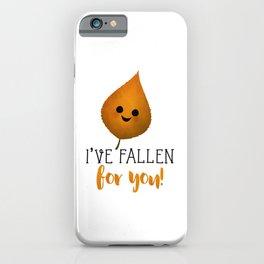 I've Fallen For You - Autumn Leaf iPhone Case
