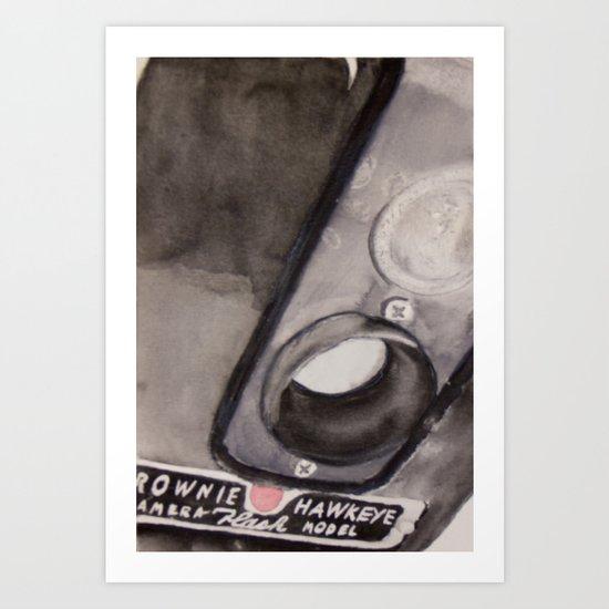 Brownie Hawkeye Watercolor Painting Art Print