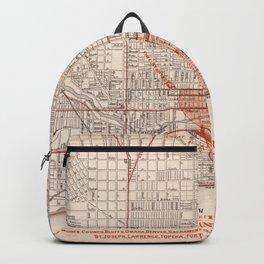 Vintage Railroad Map of Chicago (1871) Backpack