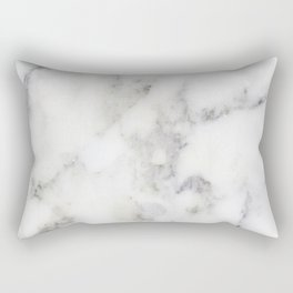 Realistic white faux marble no18 Rectangular Pillow