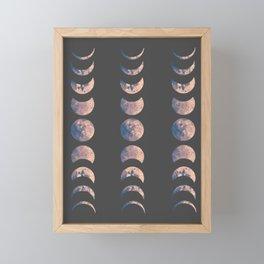 Moon Phases Framed Mini Art Print