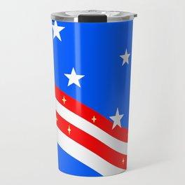 Bright American Flag Travel Mug