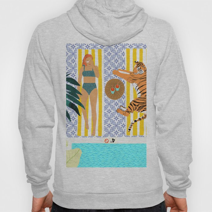 How To Vacay With Your Tiger #illustration Hoody