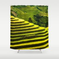 duvet cover Shower Curtains featuring Duvet Cover 407D by Michael Mackin