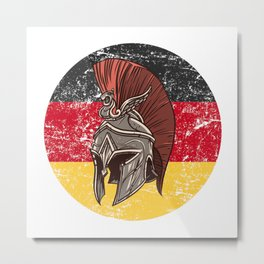 Germany German Spartan  TShirt Warrior Shirt Flag Gift Idea Metal Print