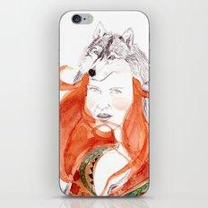Wolf Girl iPhone & iPod Skin