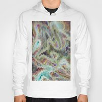 monet Hoodies featuring Monet Style Pastel Abstract by David Pyatt