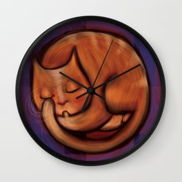 LITTLE RED CAT Wall Clock