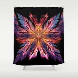 Flame Flower with Wings Shower Curtain