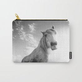 Horse (Black and White) Carry-All Pouch