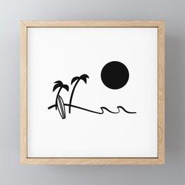 Afternoon surf  Framed Mini Art Print